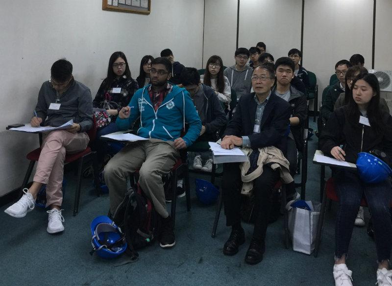 Students from the University of Hong Kong at Trinseo Tsing Yi Plant