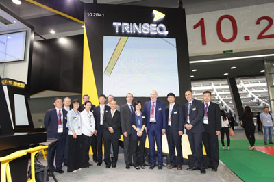 Trinseo colleagues picture at the booth