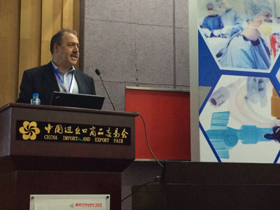 Tony Samurkas introduced Trinseo's medical grade resins during the conference's medical seminar