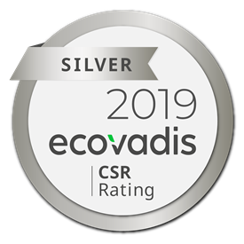 2019 Silver Medal EcoVadis CSR Rating
