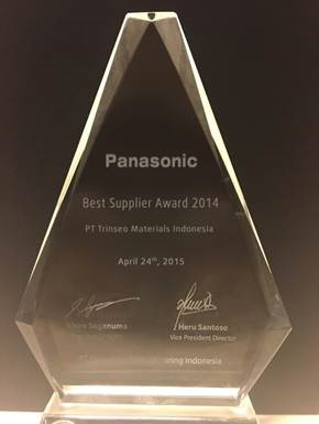 Trinseo Recieves Best Supplier Award from Panasonic