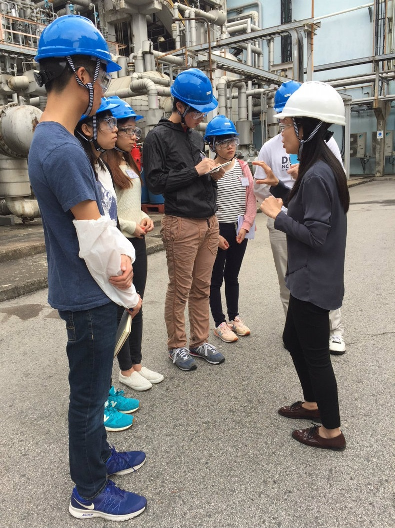 Students touring Trinseo Tsing Yi Plant
