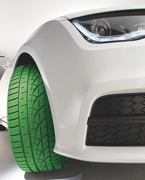Green Car Tire