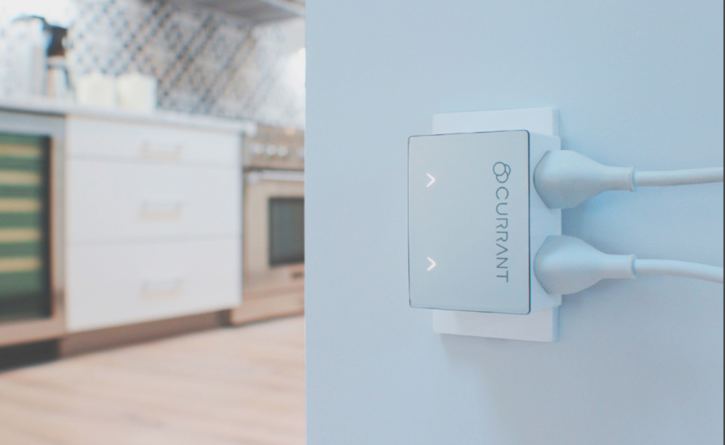 Close up of a Currant Smart Outlet